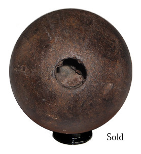 12 lb. Explosive Confederate Wood Plug Cannonball from Culp's Hill