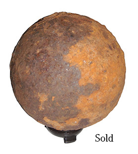Dug 12Lb. Confederate Cannonball Fired at Cemetery Ridge