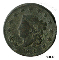 Camp Dug 1831 Large Penny Cent