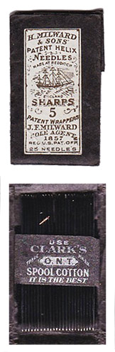 H. Milward & Sons Civil War Sewing Needles