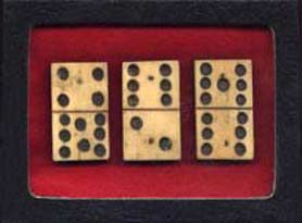 Civi War Dominoes artifacts