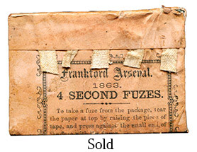 Frankford Arsenal 1863 - 4 Second Artillery Fuzes