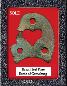 Civil War Brass Heart Heel Plate