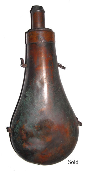 Brass Top Confederate Copper Powder Flask