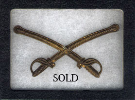 False Embroidered Cavalry Crossed Sabres