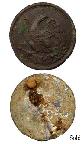 Rare Dug Eagle Breast Plate - Culp's Hill