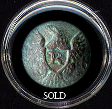 Eagle Rifleman Coat Button