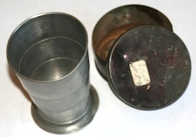 Civil War Collapsible drinking cup