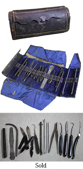 Civil War Medical Kit from Daniel Lady Farm/Camp Letterman Hospital