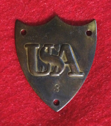 Gettysburg Civil War Artillery Saddle Shield Cantle