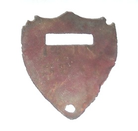 Saddle Shield - Cantle recovered East Cavalry Field