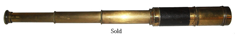 Civil War Three Drawn Brass Telescope